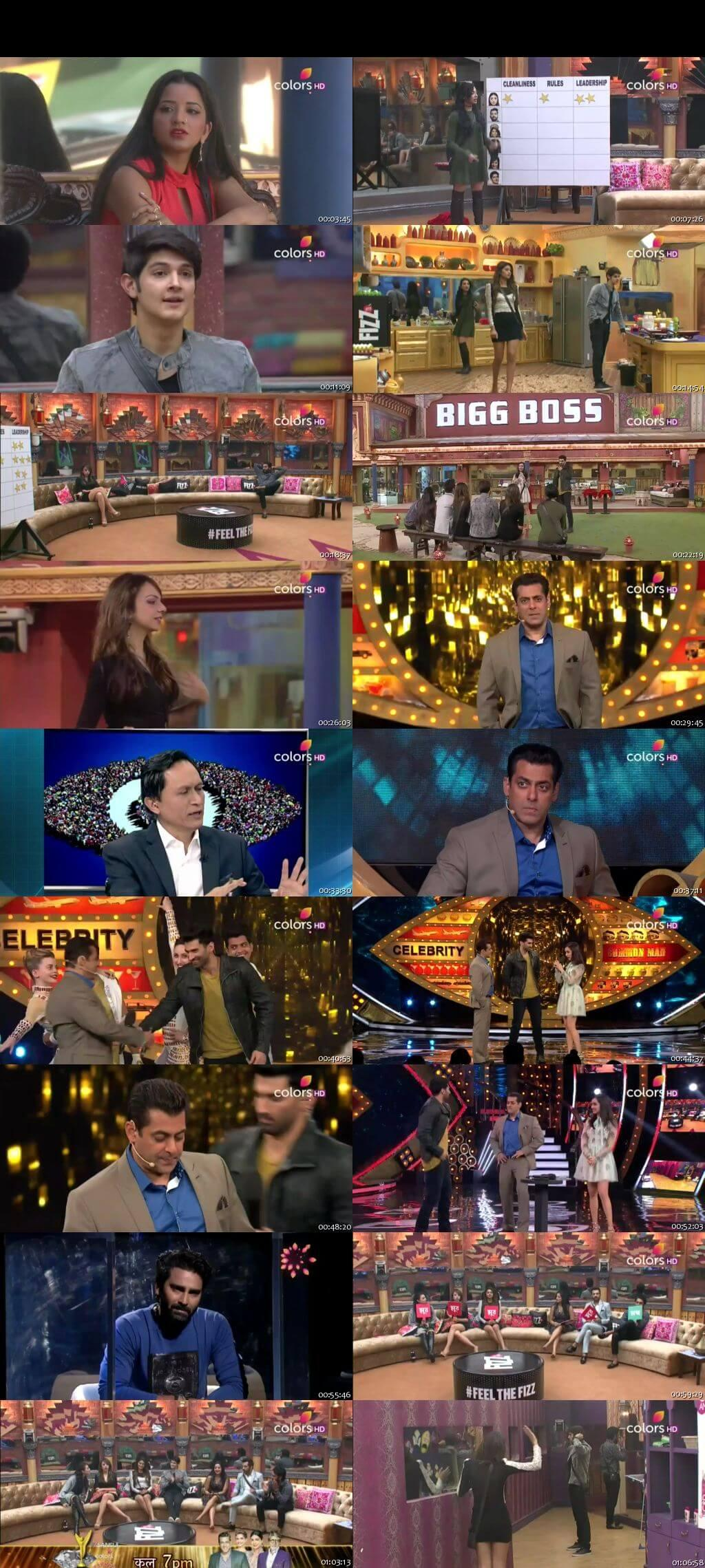 Screenshots Of Hindi Show Bigg Boss 10 7th January 2016 Episode 84 300MB 480P HD
