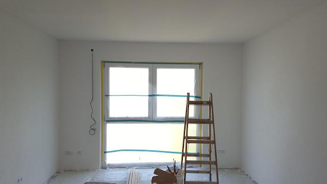 himbeertraum inneausbau teil 12 die w nde wurden verputzt und gestrichen. Black Bedroom Furniture Sets. Home Design Ideas