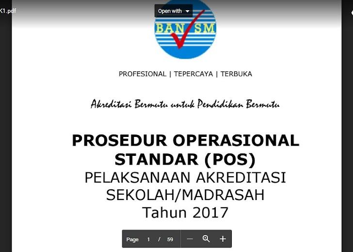 Download POS dan Instrumen Akreditasi Sekolah/Madrasah Tahun 2017