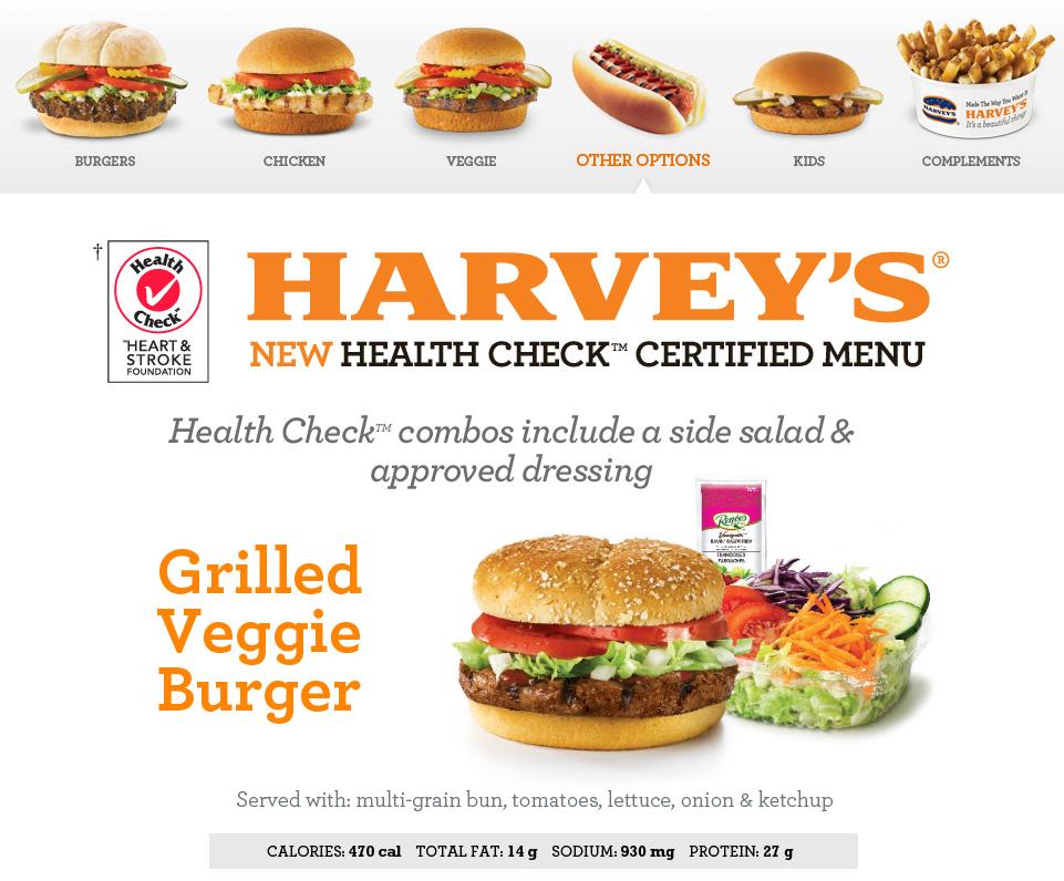 Harvey S Fast Food Breakfast Menu