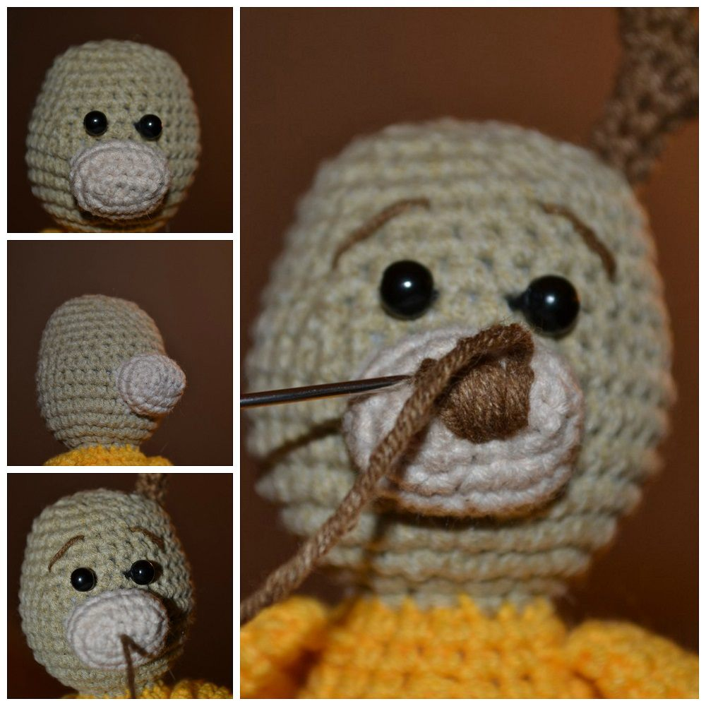 Reindeer amigurumi tutorial head and muzzle