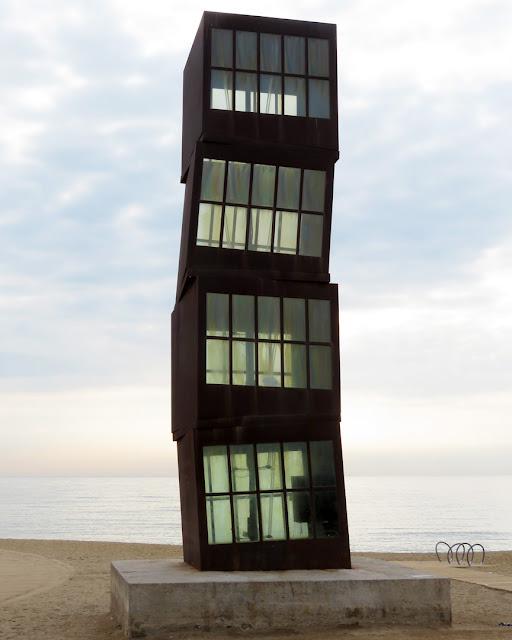 L'Estel ferit (The Wounded Shooting Star) by Rebecca Horn, Platja de Sant Miquel, Passeig Marítim de la Barceloneta, Barcelona