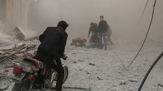 Menghitung Mayat di Ghouta Pun Kalah Cepat dari Serangan Bom Syiah Nushairiyyah