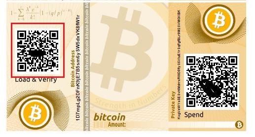 quét QR paper wallet bitcoin