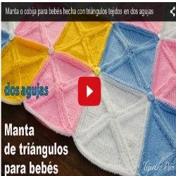 manta tricot para bebe con video tutorial