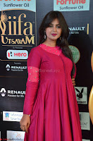 Monal Gajjar in Maroon Gown Stunning Cute Beauty at IIFA Utsavam Awards 2017 026.JPG