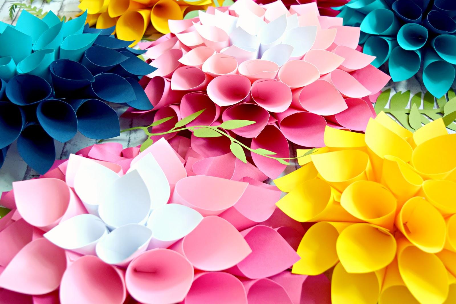 diy giant dahlia paper flowers  how to make large paper dahlias