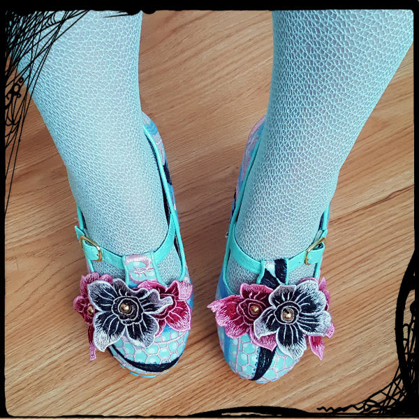 wearing irregular choice aquata shoes flowers ss17