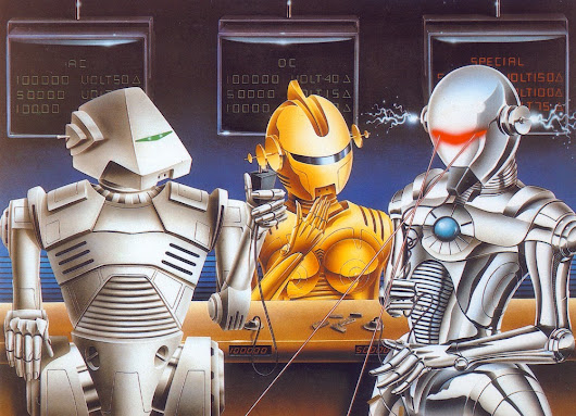 Collecting robots on postcards - 4