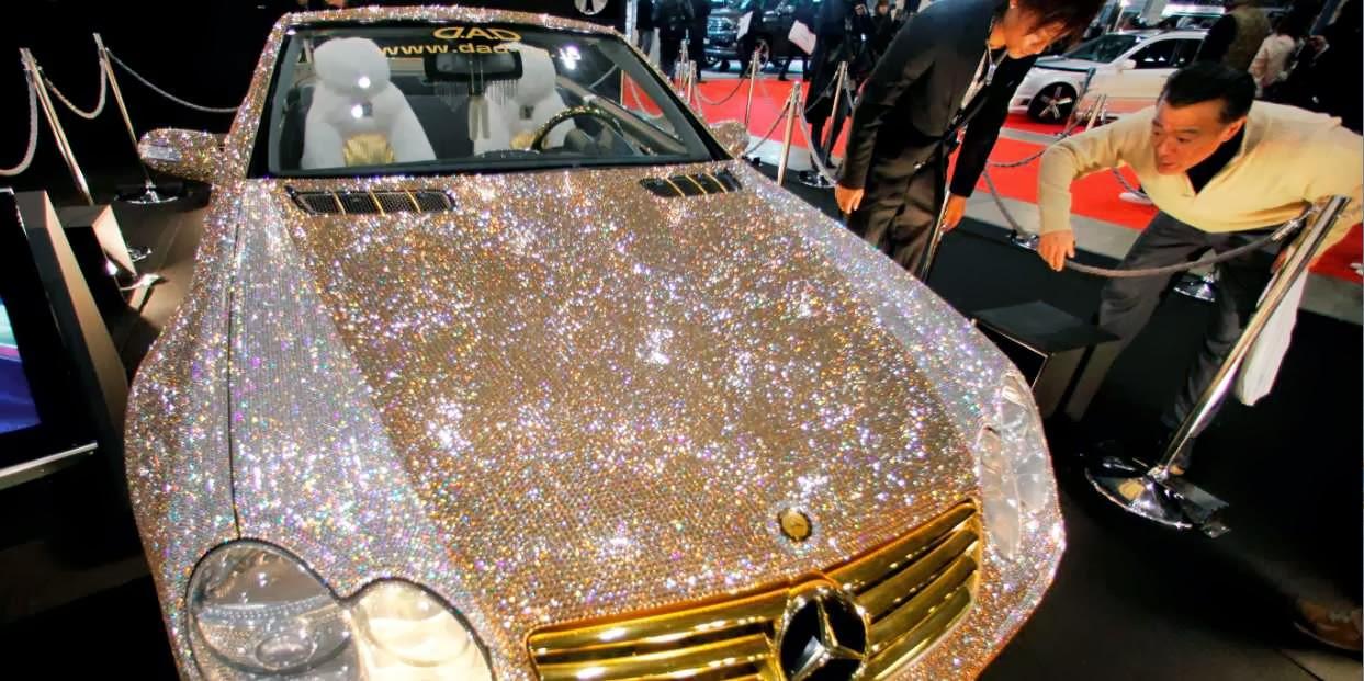 Diamond Covered Mercedes Of Prince Al Waleed Bin Talal