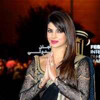 Priyanka chopra in black designer saree at marrakech