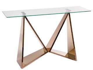 mueble entrada en oro y cristal