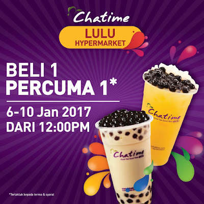 Chatime Malaysia Buy 1 Free 1 Opening Offer Promo