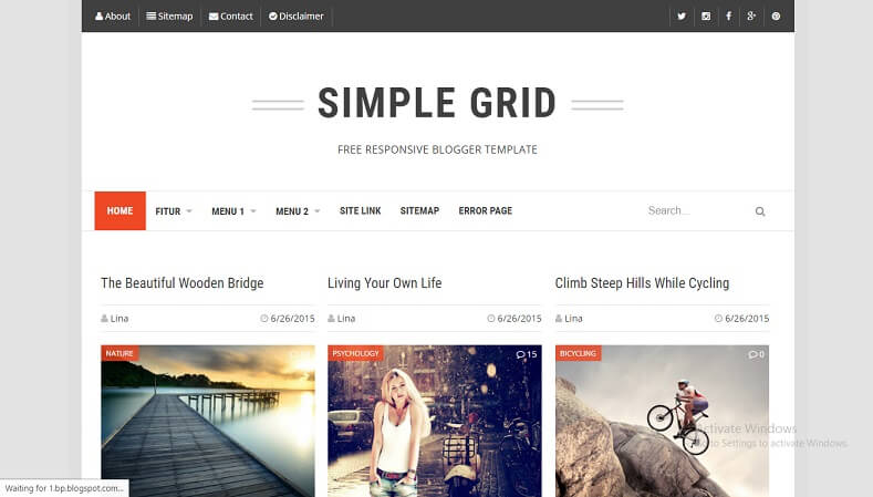 Download Simple Grid Responsive Blogger Template Way Templates