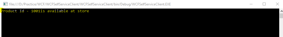WCF service Self Host