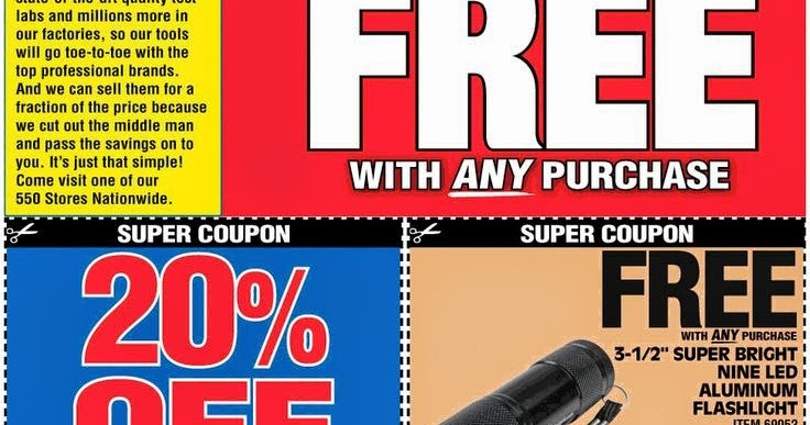 Harbor freight coupon free flashlight printable - Free coupons by