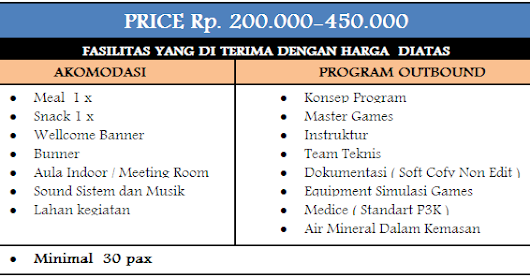 HARGA PAKET OUTBOUND 1 DAY