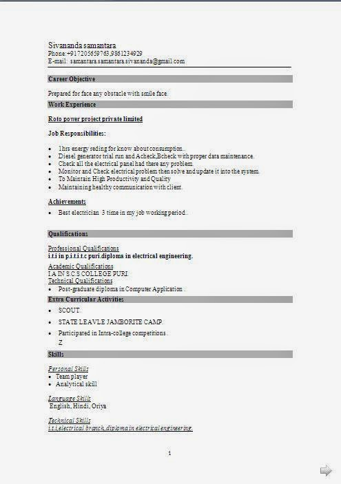 Types Of Resume Formats  Resume Format And Resume Maker