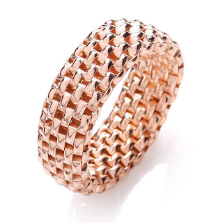 J Jaz Rose Gold Mesh Ring