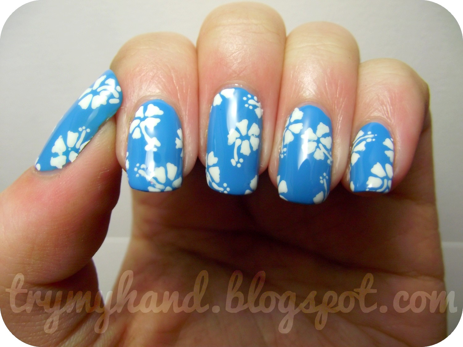 Hibiscus Flowers Nail Art Design Gardening Flower And Vegetables