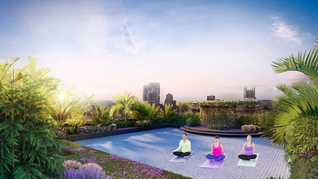 Cảnh quan sân vườn tại Imperia Sky garden 423 Minh Khai