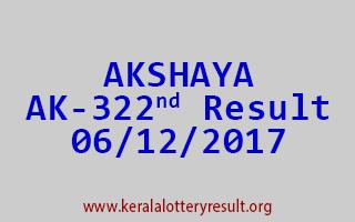 AKSHAYA Lottery AK 322 Results 6-12-2017