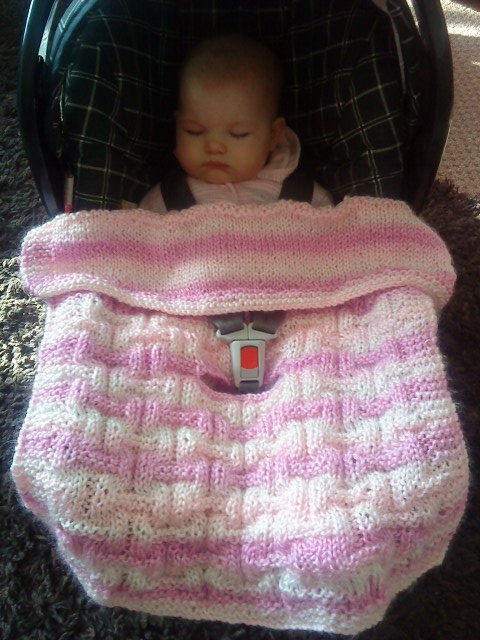 Car Seat Covers For Babies Patterns Hand Knitted With Love