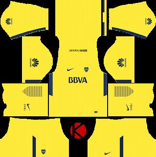 Boca Juniors Kits 2017/18 - Dream League Soccer