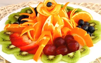 Fruit Platter | Fruits Carving Garnish | Food Decoration | Party Garnishing