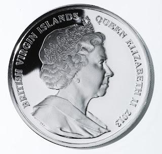 Virgin Islands 10 Dollars Silver Coin 2013 Queen Elizabeth II