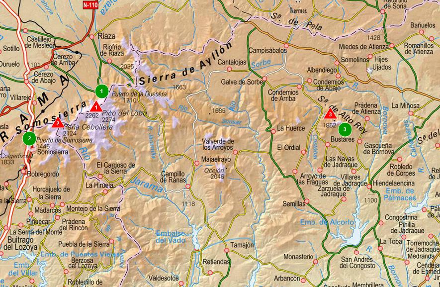 Sendas De Burgos Mapa De Sierra De Ayllon Norte De Madrid