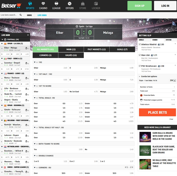 Betser Live Betting Offers