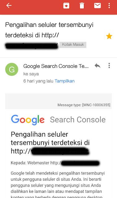 email banned google dari webmaster