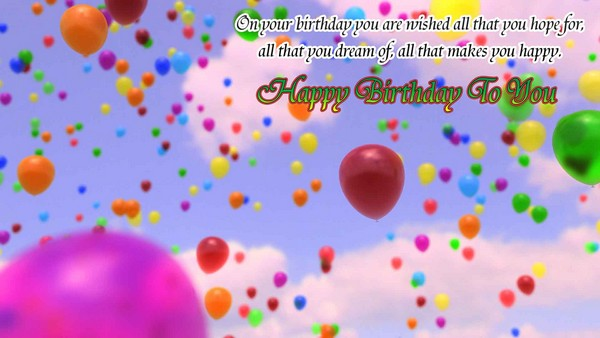 Wish You A Happy Birthday Images