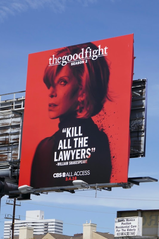 Good Fight season 2 Diane Lockhart billboard