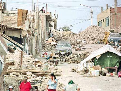 terremoto en el sur del peru