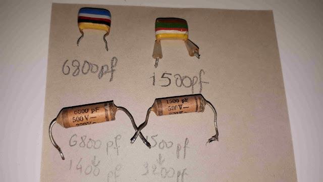 Remplacer condensateurs de TSF