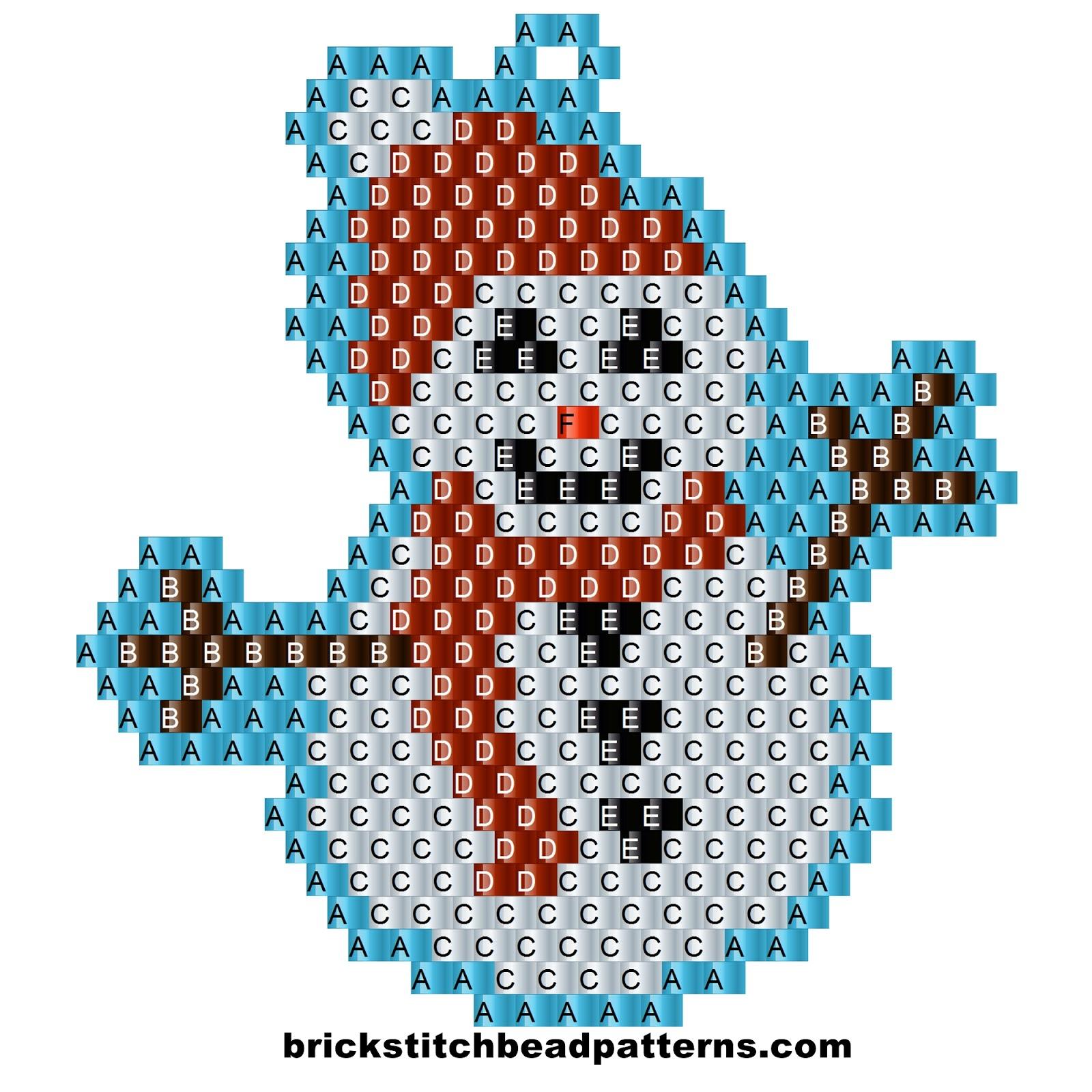 Brick Stitch Bead Patterns Journal: Free Winter Snowman ...