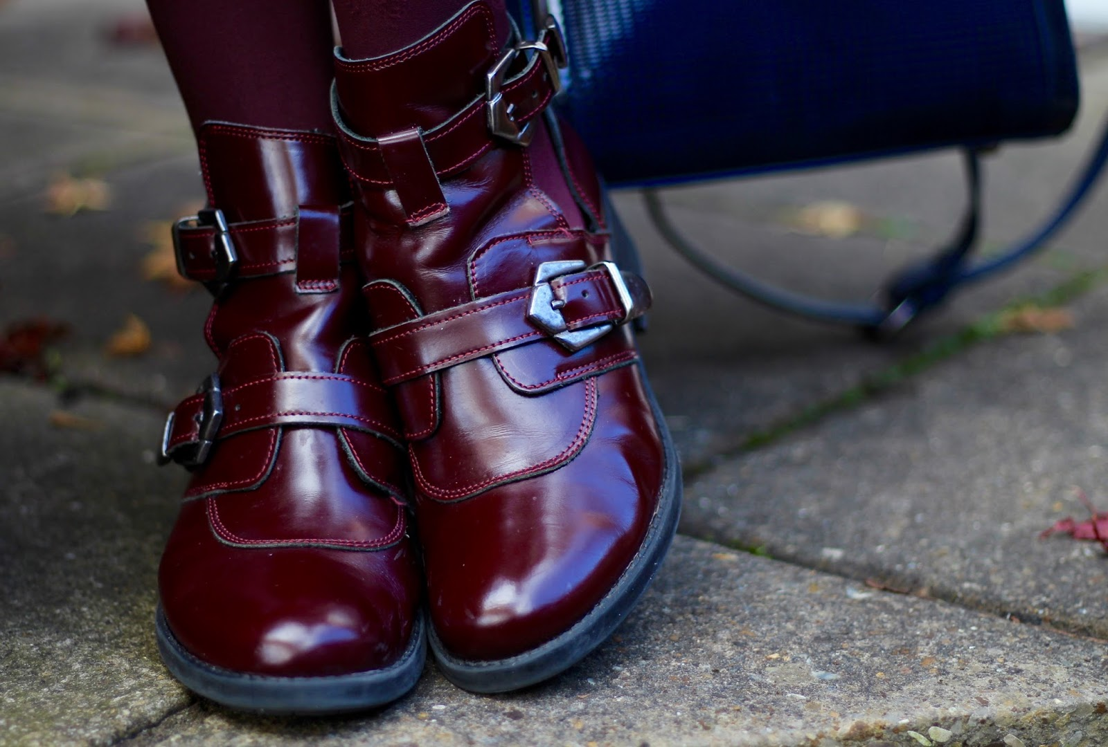 Oxblood buckle boots, over 40 | Fake Fabulous