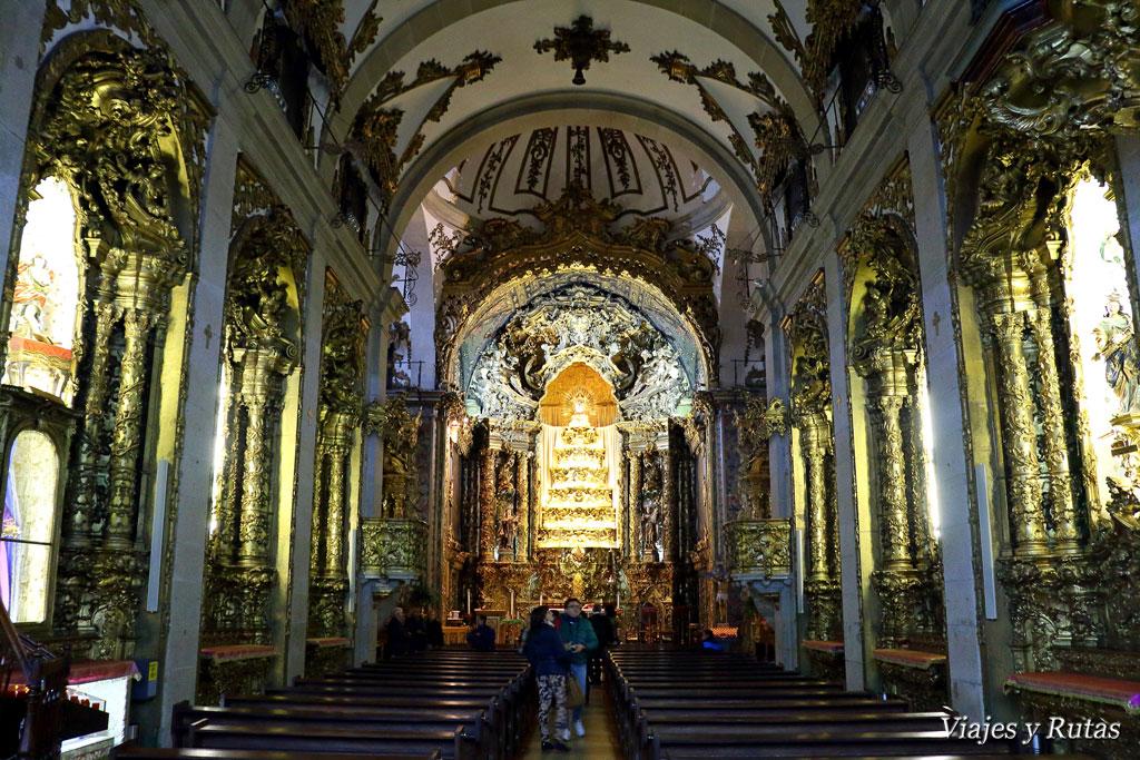 Interior Iglesia del Carmen, Oporto