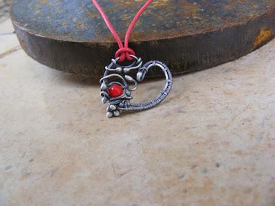 Kolejne serce ze srebra :)