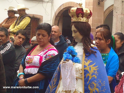 Our Lady of Health of Patzcuaro at the procession