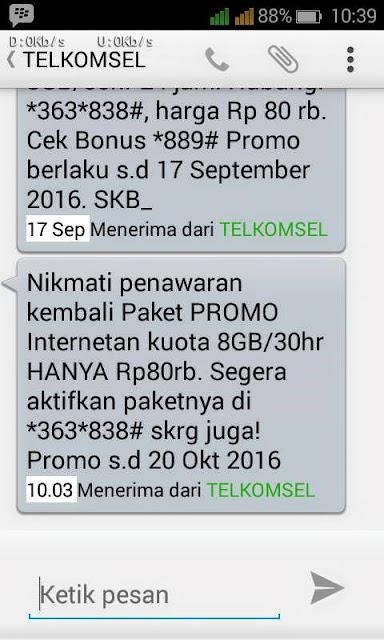 Cara Membeli Paket Internet Kartu As 8 GB Hanya 80 Ribu *363#