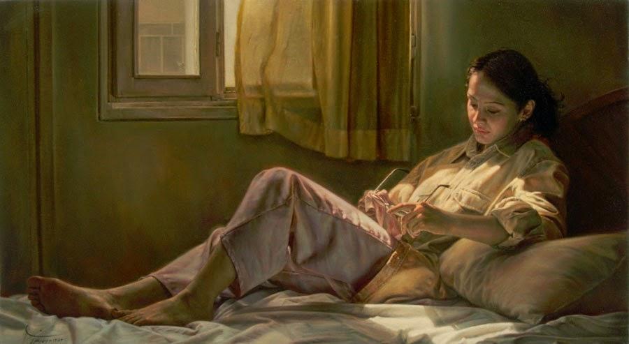 Luz do Sol - Iman Maleki e suas pinturas realistas ~ Pintor iraniano