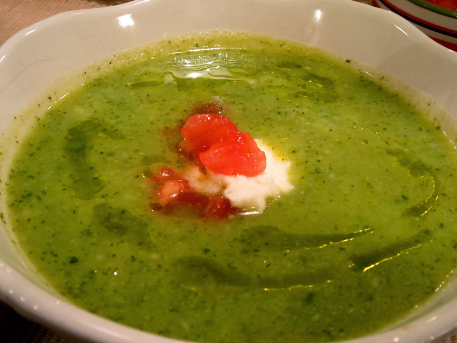 The Italian Next Door: Cream of Broccoli and Zucchini Soup w/ Cheesy ...