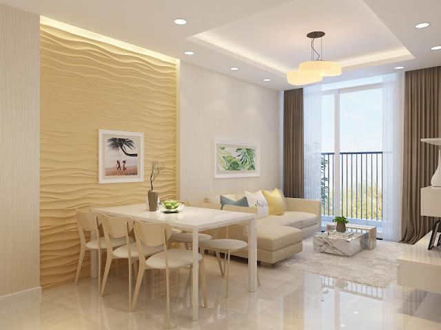Mẫu thiết kế phòng khách căn hộ Mỹ Đình Pearl