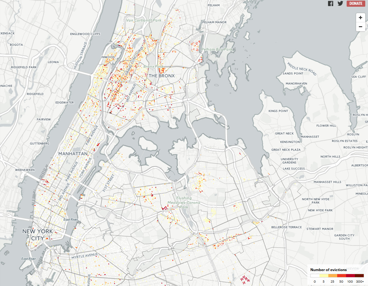 Every eviction case in New York City since 2013