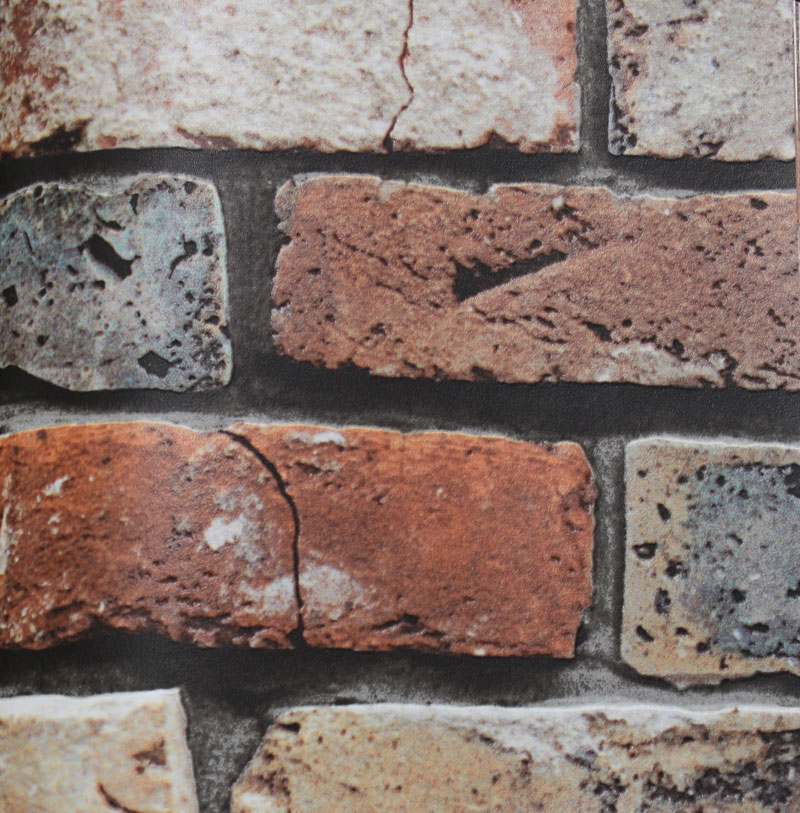 faux stone brick wallpaper - photo #34
