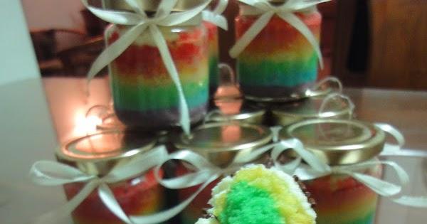 Resep Cake In Jar Rainbow: JUICY CAFE: RAINBOW CAKE IN JAR
