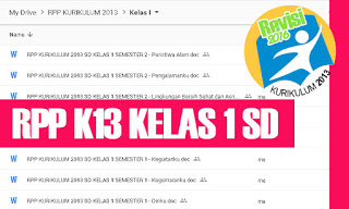 RPP K13 SD Kelas 1 Tema 7 Subtema 1 2 3 4